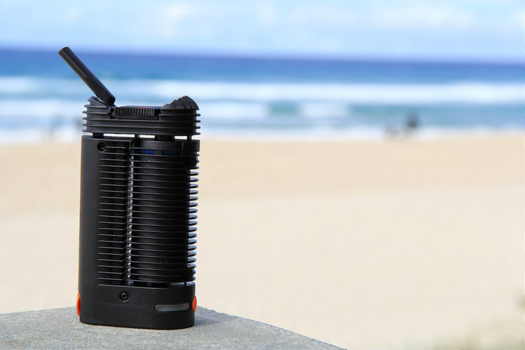 Crafty Portable Vaporizer at the beach