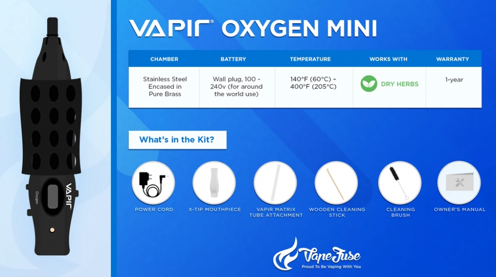 Vapir Oxygen Mini Graphics