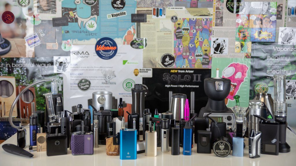 Vaping Cannabis for Epilepsy in Australia vapes on display