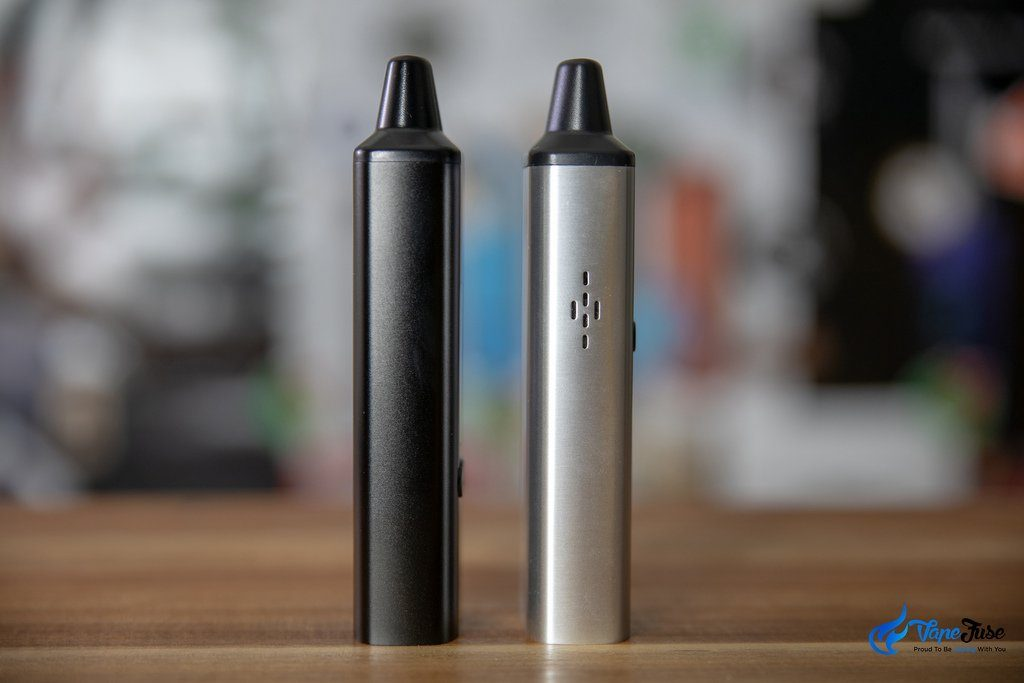 Ald Amaze WOW V2 Portable Vaporzier with V1 side view
