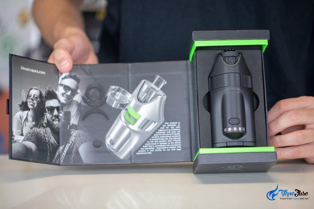 Ghost MV1 Portable Herbal Vaporizer Box Open
