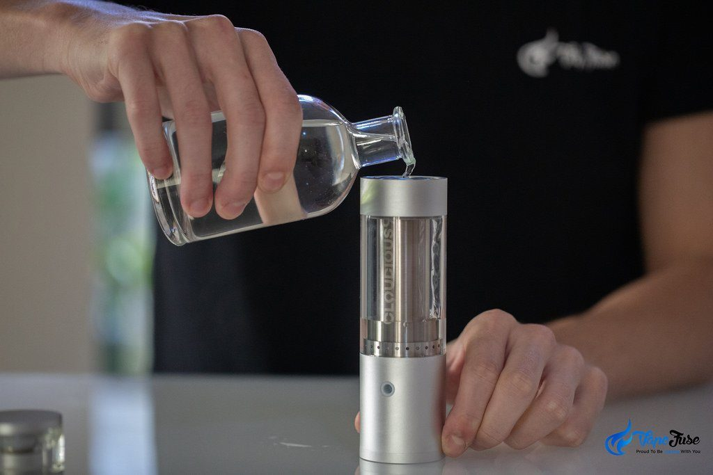 Hydrology9 Vaporzier - adding water to the bubbler