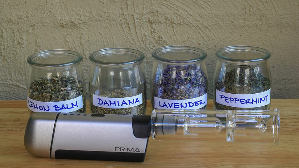 Herbs ready to be vaporized