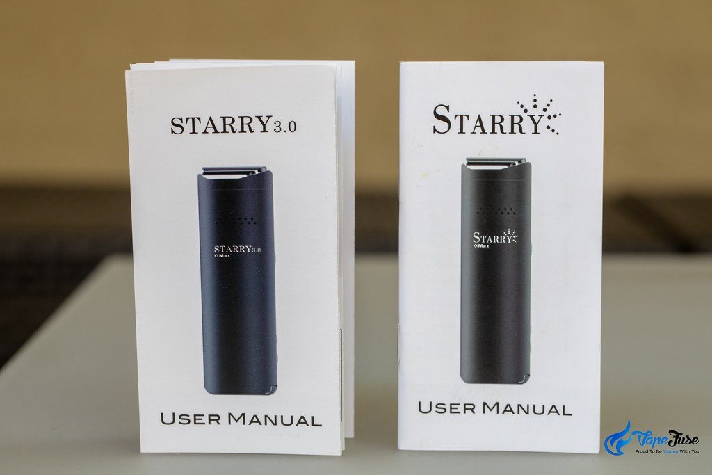 Starry Portable Vaporizer users manuals
